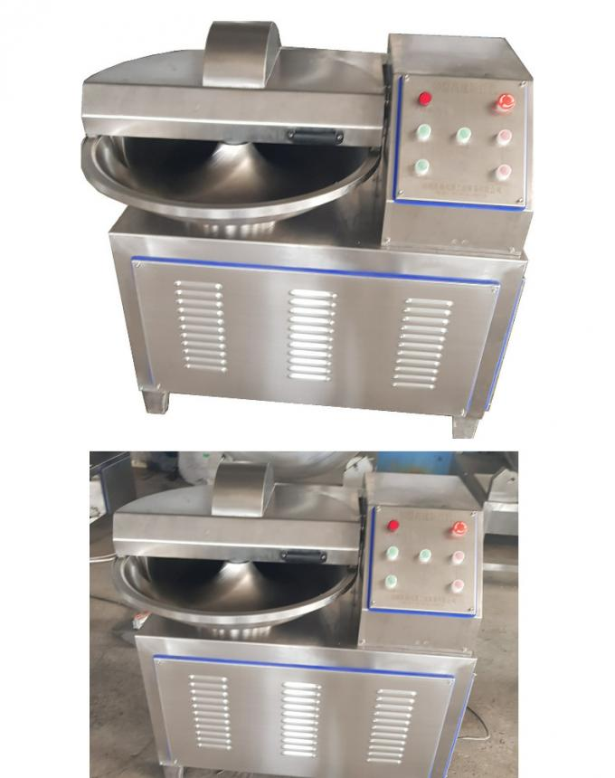 Meat Food Processing Machine , Electric Sausage Meat Bowl Chopper Mixer