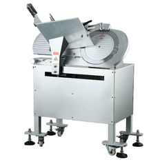 China Chefs Use Floor Type Automatic Meat Slicer 14 Inch Stainless Steel Material supplier
