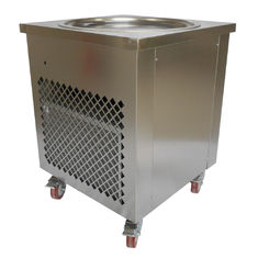 China Simple Operation Manual Fried Ice Cream Roll Machine Single Pan Cold Plate supplier