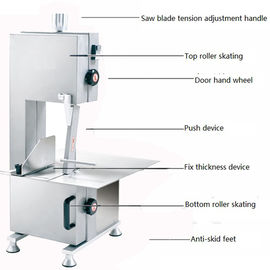 China Electric Kitchen Meat Band Saw , Butchers Meat Cutting Saw Low Noise distributor