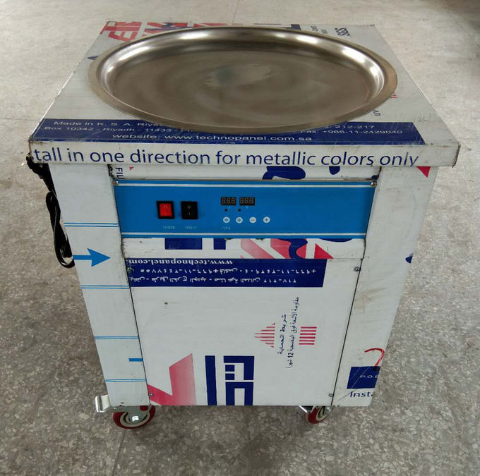 Simple Operation Manual Fried Ice Cream Roll Machine Single Pan Cold Plate